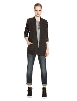 dkny-jeans-quilted-bomber-jacket by dkny