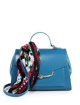 top-handle-faux-leather-satchel-&-scarf by love-moschino
