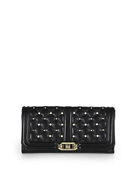 love-pearly-studded-quilted-leather-clutch by rebecca-minkoff