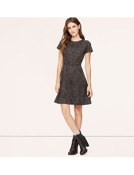 floral-jacquard-short-sleeve-dress by loft