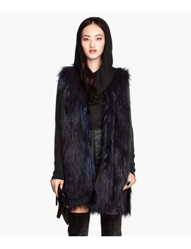 faux-fur-vest by h&m
