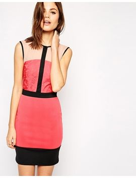 asos-lace-t-bar-strap-body-conscious-dress by asos-collection