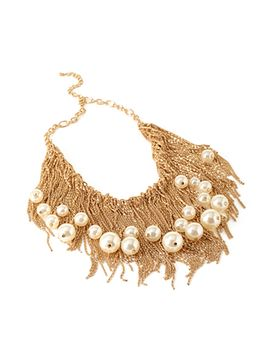 faux-pearl-statement-necklace by forever-21