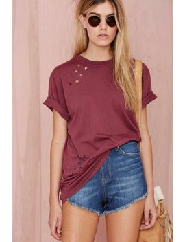 after-party-vintage-essential-tee---burgundy by nasty-gal