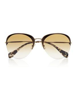 aviator-style-metal-and-acetate-sunglasses by miu-miu