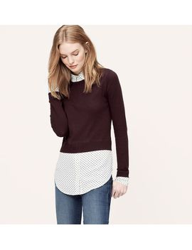 feathered-two-in-one-top by loft