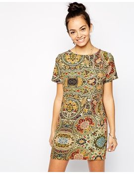 glamorous-structured-shift-dress-in-abstract-print by glamorous