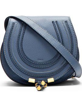 blue-calfskin-marcie-small-satchel by chloé