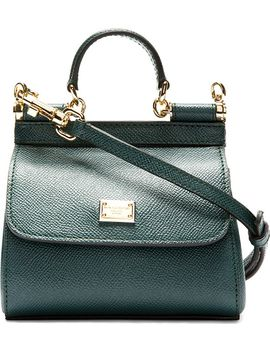green-pebbled-leather-mini-miss-sicily-bag by dolce-&-gabbana