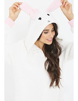 bunny-hood-plush-pj-onesie by forever-21