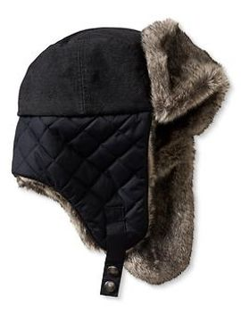 quilted-faux-fur-trim-trapper-hat by banana-repbulic