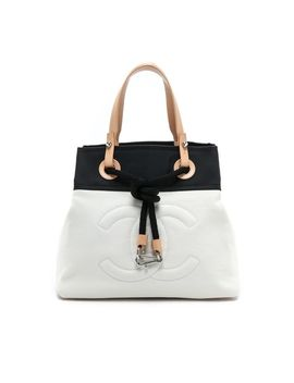 chanel-canvas-tote by what-goes-around-comes-around