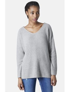 double-v-neck-rib-sweater by topshop