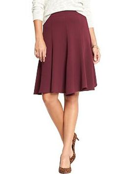 womens-fluted-crepe-skirts by old-navy