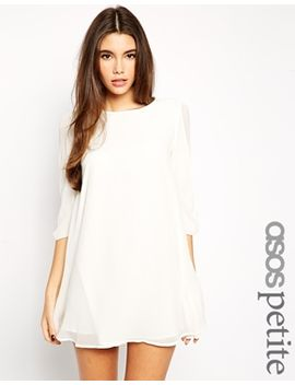 asos-petite-exclusive-bow-sleeve-shift-dress by asos-petite