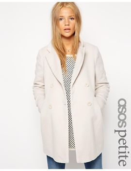 asos-petite-exclusive-double-breasted-textured-coat by asos-petite