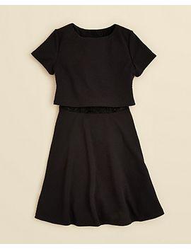 girls-textured-ponte-dress---sizes-s-xl by aqua