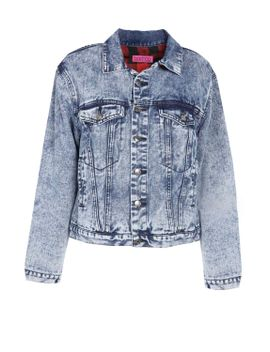 xenia-flannel-lined-denim-jacket by boohoo