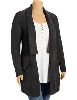 womens-plus-open-front-shawl-collar-cardigans by old-navy