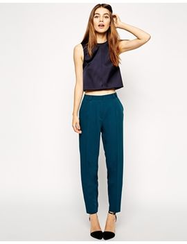 asos-trousers-in-straight-leg-with-high-waist by asos-collection