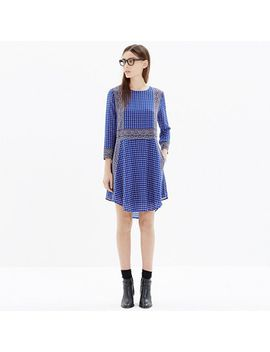 silk-tee-dress-in-ascot-grid by madewell
