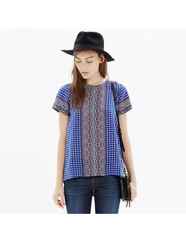 silk-tailored-tee-in-ascot-grid by madewell