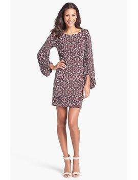 blouson-sleeve-print-jersey-dress by laundry-by-shelli-segal