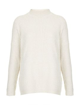 chenille-slouch-jumper by topshop