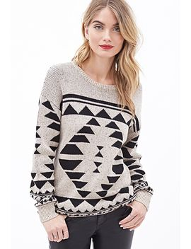 speckled-geo-patterned-sweater by forever-21