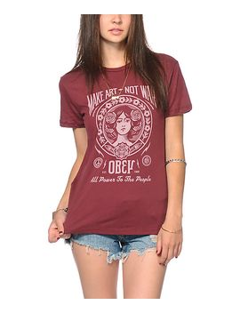 obey-make-art-not-war-2-t-shirt by obey