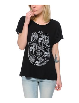 obey-all-seeing-palm-black-modern-dolman-t-shirt by obey