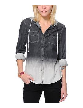 empyre-raleigh-black-dip-dye-button-up-shirt by empyre