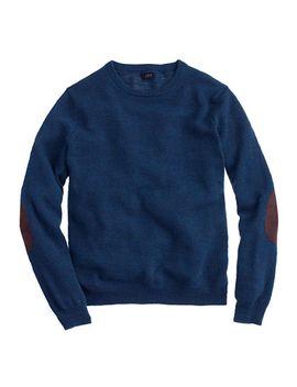 rustic-merino-elbow-patch-sweater by jcrew