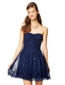 billie-sequin-hem-mesh-dress by delias