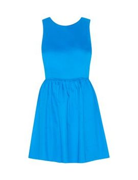blue-bow-back-cotton-sateen-prom-dress by new-look