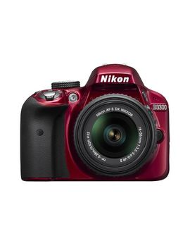 nikon-d3300-242-mp-cmos-digital-slr-with-auto-focus-s-dx-nikkor-18-55mm-f_35-56g-vr-ii-zoom-lens-(red) by nikon