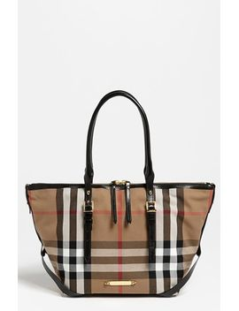 house-check-–-small-tote by burberry