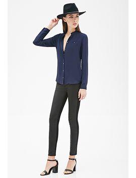 mandarin-collar-blouse by forever-21