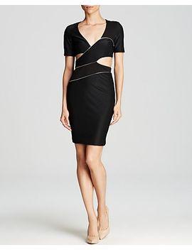 bec-&-bridge-dress---midnight-rambler-short-sleeve-zip-trim-cutout by midnight-rambler-short-sleeve-zip-trim-cutout