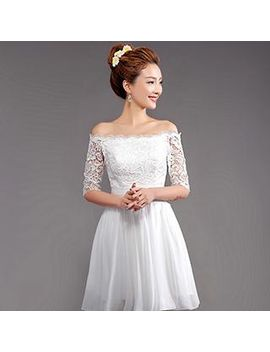 angel-bridal---off-shoulder-crochet-party-dress by angel-bridal
