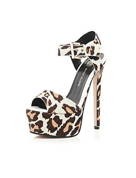 brown-animal-print-pony-skin-platforms by river-island