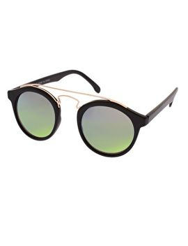 asos-round-sunglasses-with-metal-bridge-detail-and-mirrored-lens by asos-collection