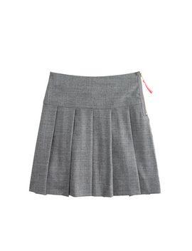 girls-pleated-flannel-skirt by jcrew