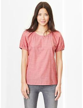 poplin-puff-sleeve-top by gap