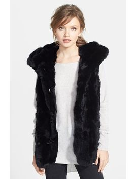 toggle-closure-hooded-genuine-rex-rabbit-fur-vest by jessica-wilde