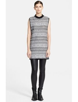 sleeveless-variant-grid-print-tunic by helmut-lang