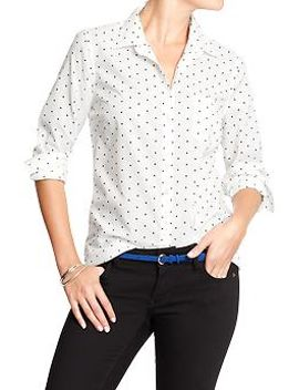 womens-polka-dot-button-front-shirts by old-navy
