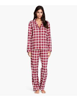 flannel-pyjamas by h&m