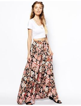 asos-floral-maxi-skirt by asos-collection