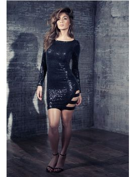 nicole-x-cut-out-sequin-dress-black by missguided